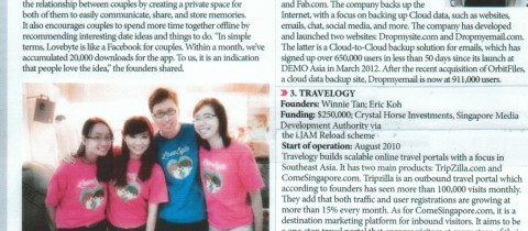 3 of our incubatees listed among the top 20 hottest startups to look out for in 2013!